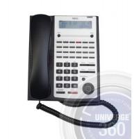 Телефон IP4WW-24TXH-A-TEL (BK) 24 доп. кнопки, 2-х строчный дисплей, черный