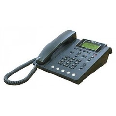 IP телефон AddPac ADD-AP-IP100B  (H.323, SIP, MGCP), 1 FXS, 2x10/100 Mbps Fast Ethernet, LCD