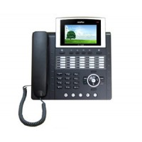 IP телефон AddPac ADD-AP-IP300 (H.323, SIP, MGCP), 2x10/100 Mbps, аудиовход и выход, Ipv4/v6, SpeakerPhone, LCD 4,3'', 25 программируемых клавиш, индикаторы присутствия