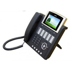 IP телефон AddPac ADD-AP-IP300P (H.323, SIP, MGCP), 2x10/100 Mbps, аудиовход и выход, PoE, IPv4/v6, SpeakerPhone, LCD 4,3