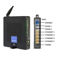 VoIP маршрутизатор WRP400-G2, 2FXS SIP v2, WAN 1х10/100, LAN 4х10/100, 802.11g, 54 Mb/s.