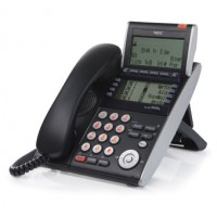 Телефон DTL-8LD-1P(BK)TEL 8 доп. кнопок, 4-х строчный дисплей 224*96 точек, 2 доп. дисплея, черный