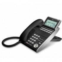 Телефон IP ITL-12D-1P(BK)TEL 12 дополнительных кнопок, 4-х строчный дисплей 224*96 точек, 2 порта RJ-45, черный