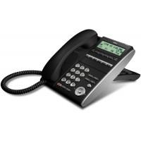 Телефон IP ITL-6DE-1P(BK) 6 дополнительных кнопок, 3-х строчный дисплей 168*58 точек, 2 порта RJ-45, черный