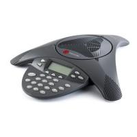 Аналоговый конференц-телефон SoundStation2 с дисплеем без возможности подключения выносных микрофонов