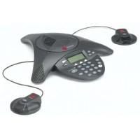 Аналоговый конференц-телефон SoundStation2 с дисплеем и возможностью подключения выносных микрофонов